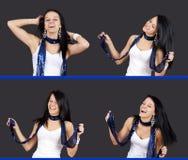 Opeenvolging van het mooie meisje dansen Stock Foto