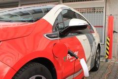 Opel Ampera Flinkster elettrico fotografia stock