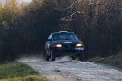 Opel Astra  competes at the annual Rally Galicia Stock Photography