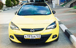 Opel Astra front view. Royalty Free Stock Photo