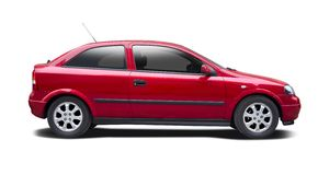 Opel Astra hatchback Royalty Free Stock Photo