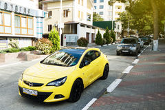 Opel Astra hatchback parked in Sochi Royalty Free Stock Photo