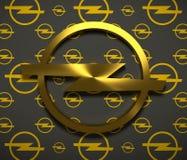 Opel-Autoemblem stock abbildung