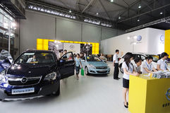 Opel booth Stock Photo