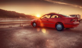 Opel calibra red Royalty Free Stock Image