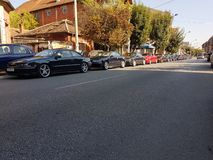 Opel Calibra in Serbia. Calibration 2018 in Serbia, city Jagodina, great day. You can see cars about 25 years old like they have 5 stock photos