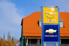 Opel and Chevrolet Stock Image