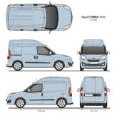 Opel Combo 2016 L1H2 Professional Delivery Van. Opel Combo 2016 L1H2 Professional Cargo Delivery Van isolated draw scale 1:10 in CDR Format Royalty Free Stock Photography