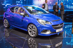 2015 Opel Corsa OPC. Geneva, Switzerland - March 4, 2015: 2015 Opel Corsa OPC presented on the 85th International Geneva Motor Show Stock Image