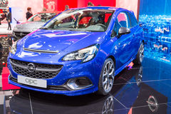 2015 Opel Corsa OPC. Geneva, Switzerland - March 4, 2015: 2015 Opel Corsa OPC presented on the 85th International Geneva Motor Show Stock Photos