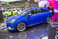 2015 Opel Corsa OPC. Geneva, Switzerland - March 4, 2015: 2015 Opel Corsa OPC presented on the 85th International Geneva Motor Show Royalty Free Stock Image
