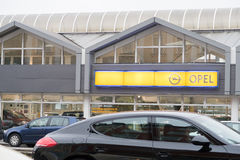 Opel dealership Stock Photography