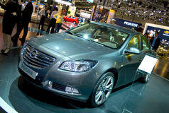 OPEL INSIGNIA. At the Moscow International Automobile Salon, motor show (MIAS-2008) August 27 - September 7 Royalty Free Stock Image