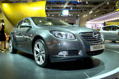 OPEL INSIGNIA (2). OPEL INSIGNIA at the Moscow International Automobile Salon, motor show (MIAS-2008) August 27 - September 7 Stock Image