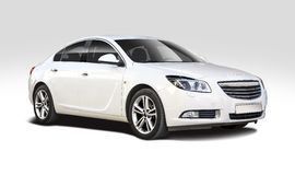 Opel Insignia  on white Royalty Free Stock Image