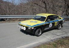 Opel kadet GTE. In the race during the Imperiesi Valli rally of 2010 Stock Photo