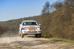 Opel Kadett  competes at the annual Rally Galicia Royalty Free Stock Photography