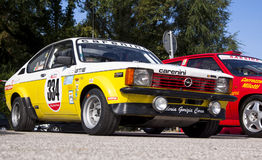 Opel Kadett GTE. Prepared for rally and hill climb races Stock Image