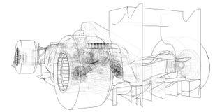 Opel Kadett GTE Rama EPS10 format Wektor tworzący 3d ilustracji