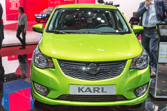 2015 Opel Karl. Geneva, Switzerland - March 4, 2015: 2015 Opel Karl presented on the 85th International Geneva Motor Show Royalty Free Stock Photos