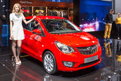 2015 Opel Karl. Geneva, Switzerland - March 4, 2015: 2015 Opel Karl presented on the 85th International Geneva Motor Show Stock Image