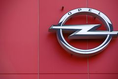 Opel Logo Football stadion Mainz Royaltyfri Foto