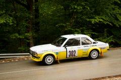 Opel on Miskolc Rally Hungary. 2016 Royalty Free Stock Photography