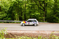Opel on Miskolc Rally Hungary. 2016 Royalty Free Stock Photography