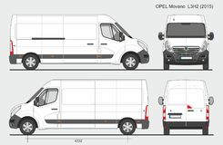 Opel Movano Груз Van L3H2 2015 Стоковая Фотография RF