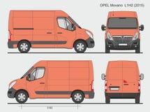 Opel Movano Груз Van L1H2 2015 Стоковое Фото