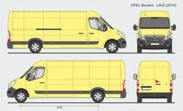Opel Movano Груз Van L4H2 2015 Стоковые Фото