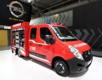 Opel Movano brandmotor Fotografering för Bildbyråer