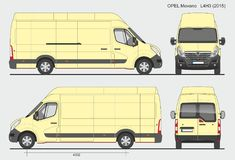 Opel Movano Cargo Van L4H3 2015 Photos stock