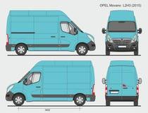 Opel Movano Cargo Van L2H3 2015 Royalty-vrije Stock Afbeeldingen