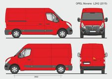 Opel Movano Cargo Van L2H2 2015 Photo stock