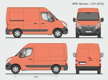 Opel Movano Cargo Van L1H2 2015 Photo stock