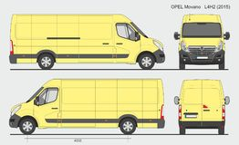 Opel Movano Cargo Van L4H2 2015 Photos stock