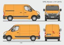 Opel Movano Cargo Van L1H1 2015 Royalty-vrije Stock Fotografie