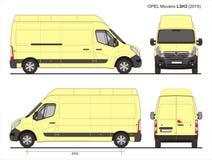Opel Movano-de Bestelwagen 2015 L3H3 Blauwdruk van de Ladingslevering Stock Foto
