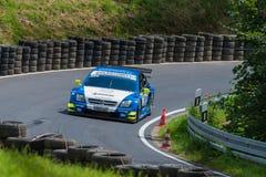 Opel race car on track Royalty Free Stock Photos