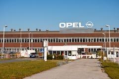 Opel´s Bochum Factory. Bochum, Germany - October 11, 2015: Factory building of international carmaker Opel in Bochum Royalty Free Stock Photography