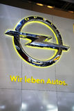 The Opel slogan - We Love Cars Stock Images
