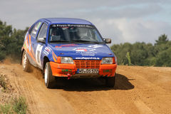 Opel Vauxhall Rallye Car. Wedemark Rallye, Lower Saxony, Germany Stock Photography