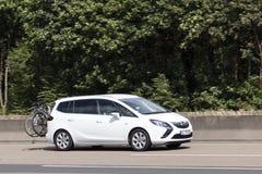 Opel Zafira Compact MPV on the road Stock Photos