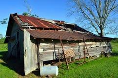Opelousas,路易斯安那老谷仓08 免版税库存图片