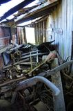 Opelousas,路易斯安那老谷仓10 库存照片