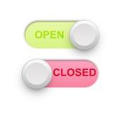 open关闭了 免版税库存照片