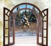 Open成拱形门有看法自然风景 免版税库存图片