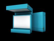 Open箱子的例证在白色背景的 免版税库存照片