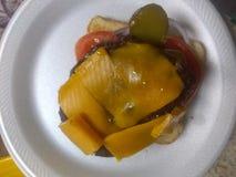 Open смотреть на гамбургер стоковые изображения